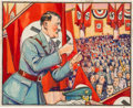 Non-Sport Cards:Singles (Pre-1950), 1938 R68 Gum, Inc. Horrors of War Hitler Threatens Force to Free Sudetens #283 Original Artwork.. ...