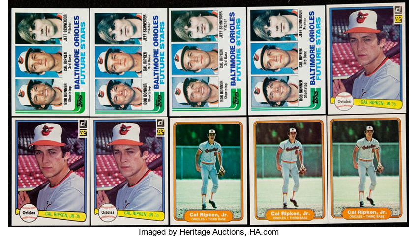 1982 Donruss Fleer Topps Cal Ripken Jr Rookie Collection Lot