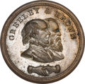 Political:Tokens & Medals, Greeley & Brown: Choice Silvered Copper Shell Jugate....