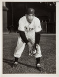 Baseball Collectibles:Photos, 1951 Willie Mays Original News Photograph, PSA/DNA Type 1--ImageUsed for 1953 Topps Card #244!. ...