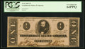 Confederate Notes:1863 Issues, T62 $1 1863 PF-5 Cr. UNL. ...