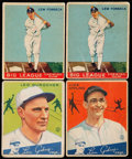 Baseball Cards:Lots, 1933-34 Goudey Baseball Stars & HoFers Quartet (4)....