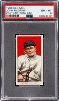 Baseball Cards:Singles (Pre-1930), 1909-11 T206 Old Mill John McGraw (Portrait) With Cap PSA NM-MT 8 - Pop Seven, One Higher! ...