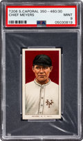 Baseball Cards:Singles (Pre-1930), 1909-11 T206 Sweet Caporal 350-460/30 Chief Meyers PSA Mint 9 - Pop One, None Higher! ...