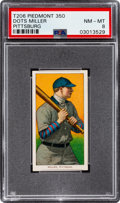 Baseball Cards:Singles (Pre-1930), 1909-11 T206 Piedmont 350 Dots Miller (Pittsburg) PSA NM-MT 8 - None Higher. ...