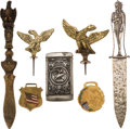 Western Expansion:Indian Artifacts, Indians and Eagles: An Eclectic Group of Seven Pieces....