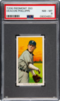 Baseball Cards:Singles (Pre-1930), 1909-11 T206 Sweet Caporal 350 Deacon Phillippe PSA NM-MT 8 - Pop Three, One Higher!. ...