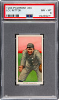 Baseball Cards:Singles (Pre-1930), 1909-11 T206 Piedmont 350 Lou Ritter PSA NM-MT 8 - Pop Two, None Higher!. ...