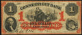 Obsoletes By State:Connecticut, Bridgeport, CT- Connecticut Bank $1 July 1, 1861 G16a. ...