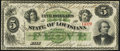 Obsoletes By State:Louisiana, New Orleans, LA- State of Louisiana $5 Dec. 20, 1866 Cr. 25. ...