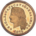 Proof Four Dollar Gold Pieces, 1879 $4 Flowing Hair, Judd-1635, Pollock-1833, R.3, PR66 PCGS Secure....