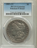 1885-CC $1 Fine 12 PCGS Genuine. NGC Census: (14/10652). PCGS Population: (19/22317). CDN: $500 Whsle. Bid for problem-f...