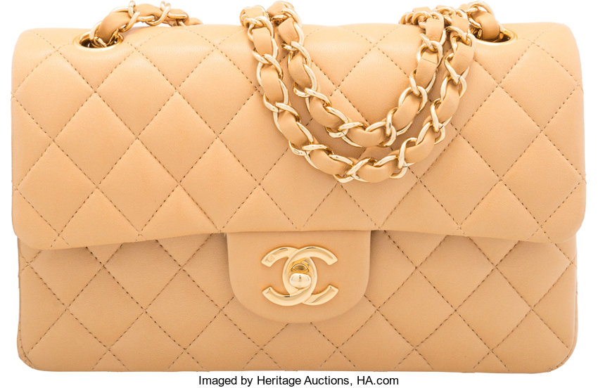 e6f24049d17bd2 ... Luxury Accessories:Bags, Chanel Beige Quilted Lambskin Leather Small  Classic Double Flap Bagwith Gold ...