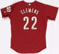 Autographs:Jerseys, Roger Clemens Signed Houston Astros Jersey. . ...