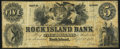 Obsoletes By State:Illinois, Rock Island, IL- Rock Island Bank $5 Sep. 1,1852 G22. ...