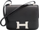 "Hermes 23cm Black Swift Leather Constance Bag with Palladium Hardware O Square, 2011 Condition: 3 9"" Width x 7&quot..."
