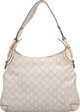 "Gucci White Guccissima Leather Medium Horsebit Shoulder Bag Condition: 3 15"" Width x 10.75"" Height x 1"" D..."