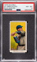 Baseball Cards:Singles (Pre-1930), 1909-11 T206 Old Mill Ed Abbaticchio (Blue Sleeves) PSA NM-MT 8 -Pop Four, None Higher! ...
