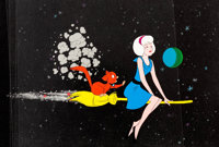 Sabrina the Teenage Witch Production Cel and Production Master Background Setup Group of 3 (Filmation, c. 1971).... (Tot...