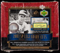 Baseball Cards:Unopened Packs/Display Boxes, 2003 SP Legendary Cuts Unopened Box With 12 Packs. ...