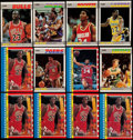 Basketball Cards:Lots, 1987 Fleer & Fleer Stickers Basketball Collection (74)....