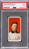 Baseball Cards:Singles (Pre-1930), 1909-11 T206 Piedmont 150 Ginger Beaumont PSA Mint 9 - Pop Two, None Higher!. ...