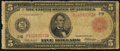 Fr. 833b $5 1914 Red Seal Federal Reserve Note Very Good