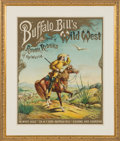"Antiques:Posters & Prints, William F. ""Buffalo Bill"" Cody and Buffalo Bill's Wild West: The Iconic Nine-Color ""White Eagle"" Cody Poster...."