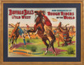 "Advertising:Signs, William F. ""Buffalo Bill"" Cody's Congress of Rough Riders of the World: Rare 1905 Poster from the European Tour...."