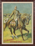 "Advertising:Signs, William F. ""Buffalo Bill"" Cody: A Great Canvas-like Banner Depicting Him on Horseback...."