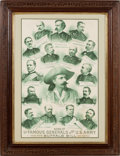 "Advertising:Signs, William F. ""Buffalo Bill"" Cody: Poster with Central PortraitEncircled By Prominent Generals...."