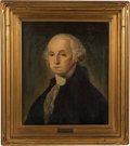 Political:3D & Other Display (pre-1896), George Washington: Oil on Canvas By T. S. Oliver....