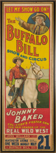 "Antiques:Posters & Prints, William F. ""Buffalo Bill"" Cody and Johnny Baker: An ImportantPoster Dating from Baker's Attempt to Continue Buffalo Bill's Sh..."