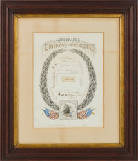 Abraham Lincoln, Ulysses Grant, George Armstrong Custer & Others: A Superb Display of Autographs of Eminent Amer...