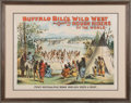 """Advertising:Signs, William F. """"Buffalo Bill"""" Cody's Wild West: Terrific Nelson Miles1891 Peace Conference Poster...."""