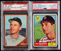 Autographs:Sports Cards, Signed 1961 Topps Carl Yastrzemski & 1962 Topps Dick GroatPSA/DNA Authentic Pair (2)....