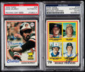 Autographs:Sports Cards, Signed 1978 Topps Baseball Eddie Murray & Jack Morris PSA/DNA Authentic Pair (2)....