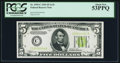 Fr. 1955-C $5 1934 Light Green Seal Federal Reserve Note. PCGS About New 53PPQ