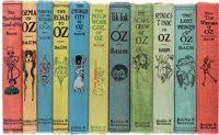 L. Frank Baum. Group of Eleven Oz Books. Chicago: The Reilly & Britton Co., [1904-1918]. First editions, general...