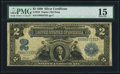 Large Size:Silver Certificates, Fr. 253 $2 1899 Silver Certificate PMG Choice Fine 15.. ...