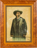 "Advertising:Signs, William F. ""Buffalo Bill"" Cody: Colorful Tin Sign Issued in 1893 for the Columbian World's Fair...."