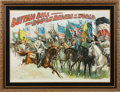 "Advertising:Signs, William F. ""Buffalo Bill"" Cody Reviewing the Rough Riders of the World: A Spectacular Large Colorful Poster by Courier Company..."