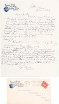 """Autographs:Celebrities, William F. """"Buffalo Bill"""" Cody: Significant Autograph Letter Signed to Sister Julia Cody, Signed """"Brother.""""..."""