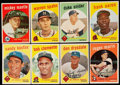 Baseball Cards:Lots, 1959 Topps Baseball Collection with Mantle (8). ...