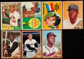 Baseball Cards:Lots, 1960 to 1962 Topps Baseball Collection (7)....