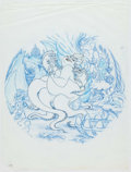 Animation Art:Concept Art, The Little Mermaid Collector's Plates Design Art Group of 6 (Walt Disney, c. 1990s).... (Total: 6 Items)