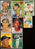Baseball Cards:Lots, 1951 to 1957 Topps Baseball Star Card Collection (8)....