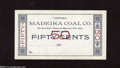 Obsoletes By State:Ohio, Madeira, OH- Madeira Coal Co. 50¢ 188_ This is an unissued piece ofcoal scrip with mountainous embossing. Choice Crisp U...