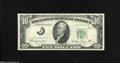 Error Notes:Obstruction Errors, Fr. 2010-J $10 1950 Federal Reserve Note. Very Fine-Extremely Fine. This obstruction error affects the black seal and exhibi...