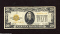 Small Size:Gold Certificates, Fr. 2402 $20 1928 Gold Certificate. Very Good. This colorful Gold note has nice serials and seal, but exhibits some spots, ...